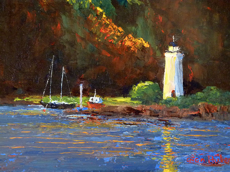 New England Coast Oil Painting