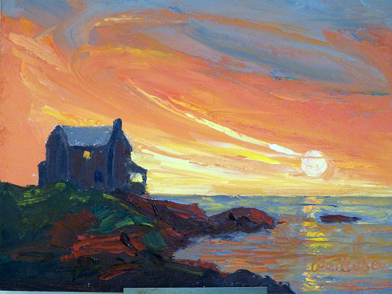 Kennebunkport Oil Painting